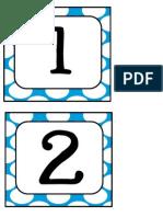 Polka Dot Numbers Turquoise