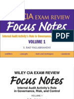 Wiley CIA Exam Review- Volume 1 Internal Audit Activity's Role in Governance Risk & Control