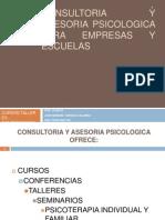 Consultoria y Asesoria Psicologica Para Empresas y Escuelas