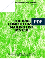 IRPS 51 The IRRI Computerized Mailing List System