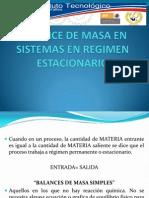 u1-4balance de Masa en Sistemas en Regimen Estacionario