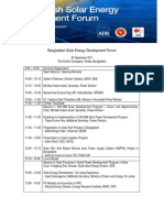 ADB Bangladesh Solar Energy Development Forum Agenda
