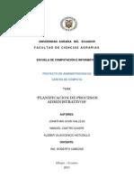 Planificacion de Procesos Administrativos