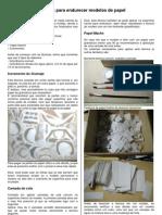 Técnicas para endurecer modelos de papel