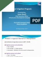 Islam Sharif - Solar Irrigation Program