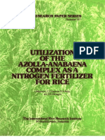 IRPS 11 Utilization of the Azolla-Anabaena Complex as a Nitrogen Fertilizer for Rice