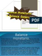 Balance Monetario Y Balance General