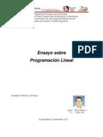 Ensayo Sobre Programacion Lineal