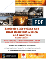 Explosion Modelling and Blast Resistant Design and Analysis Short Course 17 - 18 October 2011
