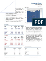 Derivatives Report 29th September 2011