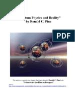 Quantum Physics and Reality