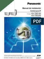 Manual de Instalacion KX-TDE100 KX-TDE200