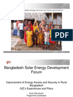 Otto Gomm- GIZ Experience and Plan in Solar Energy Sector in Bangladesh