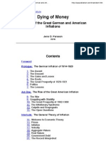 Dying of Money- Lessons of the Great German and American Inflations by Jens O.Parsson