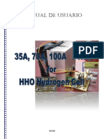 Manual 35A 70A 100A PWM for HHO Hydrogen
