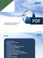 NK MINDA Group Corporate Profile 2011