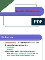 Lecture Rickettsia Chlamydia, Mycoplasma