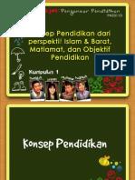 Konsep Pendidikan Dari Perspektif Islam Dan Barat - Matlamat & Objektif Pendidikan