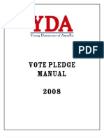 Young Democrats of America Vote Pledge Manual