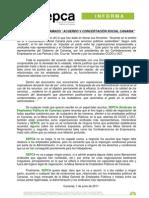Informa Acuerdo v Concertacion Social