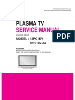 Service Manuals LG TV PLASMA 42PC1DV 42PC1DV Service Manual