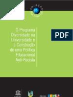 Programa Diversidade Universidade e Construção Politica Educacional Anti-racista