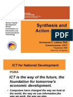 Synthesis and Action Agenda 7 Sept 06