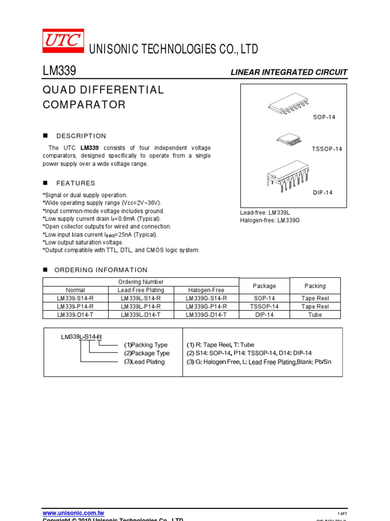 399 Compatrator Electrical Engineering Electronics The Circuit Schematic For Lm339 Quad Voltage Comparator