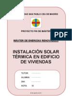 PFM - Instalación Solar Térmica en Edificio de Viviendas en Leganés