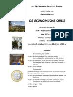 Economic crisis - 7 October in Amsterdam