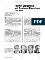 2008 JCO Study of Orthodontic Diagnosis and Treatment Procedures Part 1 Results and Trends