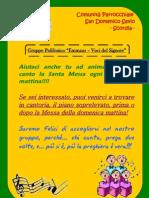 """Invito Gruppo Polifonico """"Emmaus"""""""