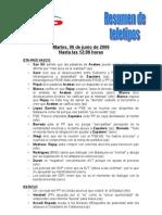 Teletipos 12.00h -  06.06