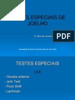 Testes Especiais de Joelho
