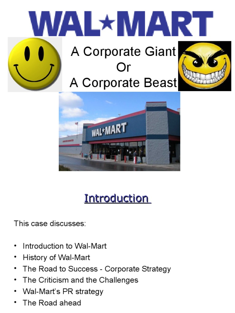 case study swot analysis walmart To analyze wal-mart in details for the rest of the paper the analysis will be based  on  in february 2004, wal-mart was brought into a case of.