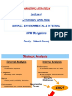 Iipm - Marketing Strategy - Lecture 4 - Strategic Analysis - Market, Environmental & Internal