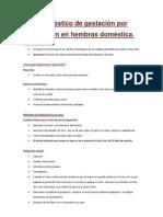 Diagnóstico de gestación por palpación en hembras doméstica