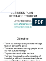 Business Plan – Heritage Tourism