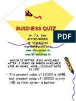 Business Quiz 21 May