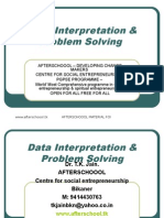 2 August Data Interpretation & Problem Solving
