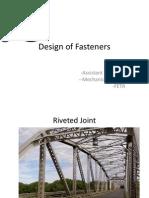 Design of Fasteners