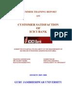 Customer Satisfaction-ICICI Bank