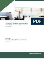 Applying for CDE Certification