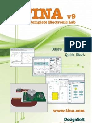 Tina 9 0 User Manual Installation Computer Programs Spice