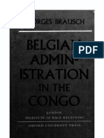 Belgian Administration in the Congo - Georges Brausch