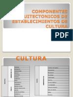 Componentes Arquitectonicos de Establecimientos de Cultura