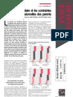 Le temps périscolaire et les contraintes professionnelles des parents