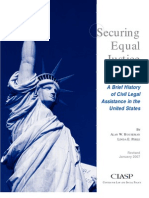 Securing Justice for All Brief History Civil Legal Asst in the US 0158
