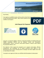MESOAMERICAN REEF FUND, Update Report September 2011
