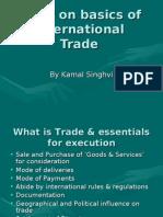 Brief on Basics of International Trade